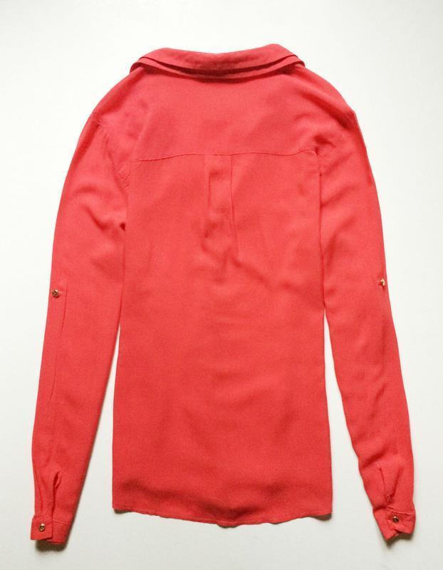 Oasis коралловая блуза - Фото 4