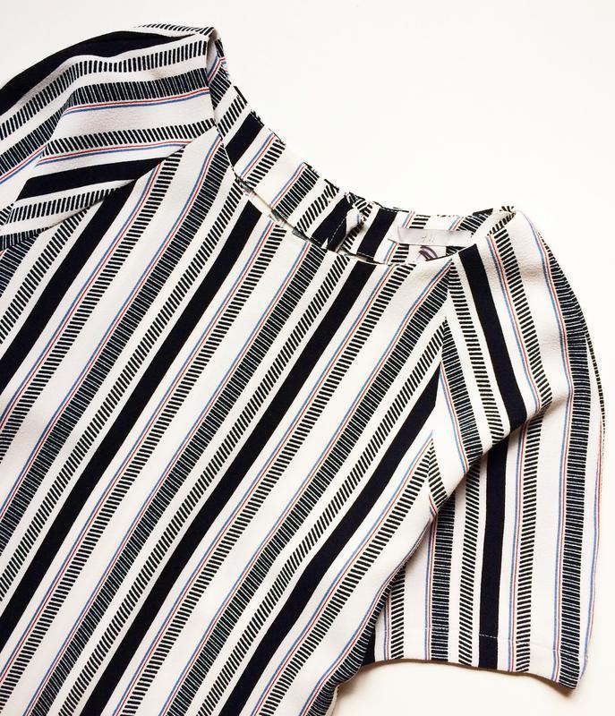 H&m полосатая блуза - Фото 2