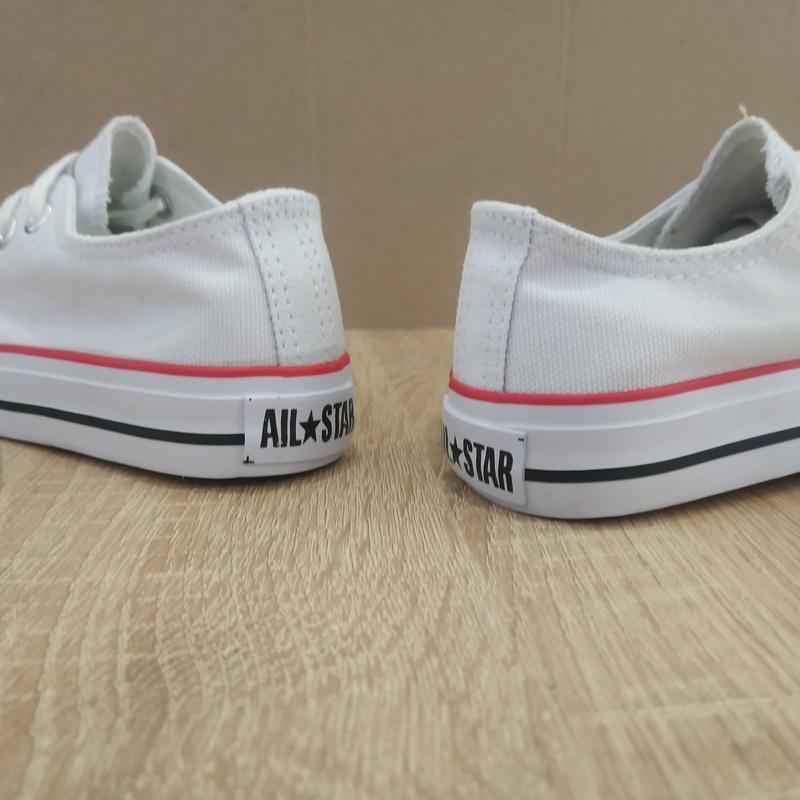 Для девочек белые легкие кеды белые на шнурках - Фото 4