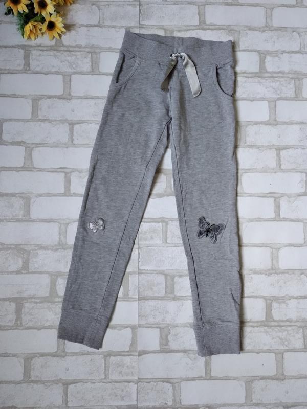 Утепленные спортивные штаны ovs на девочку серые