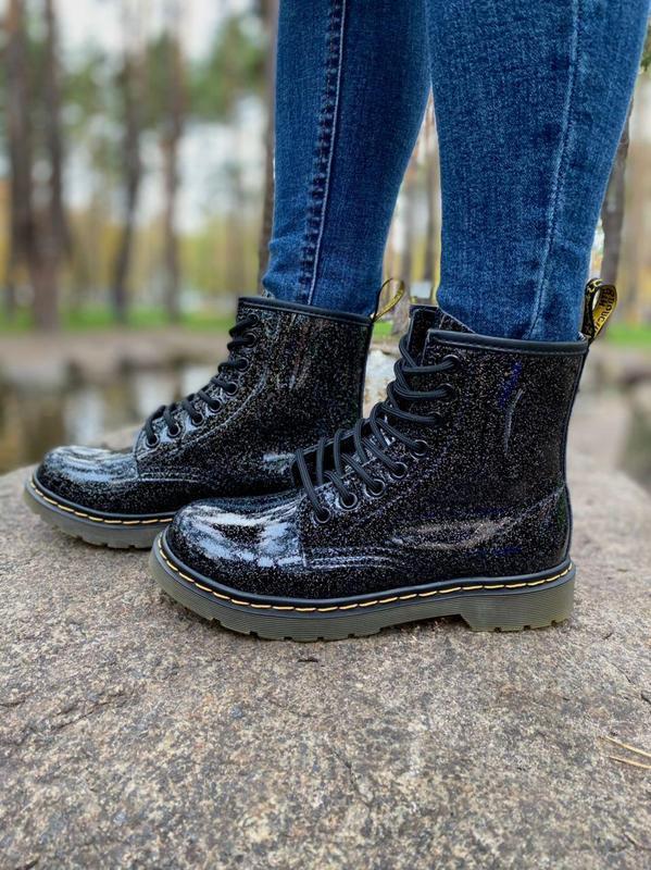 Шикарные женские ботинки dr.martens 1460 galaxy наложка - Фото 2