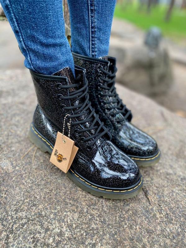 Шикарные женские ботинки dr.martens 1460 galaxy наложка - Фото 3