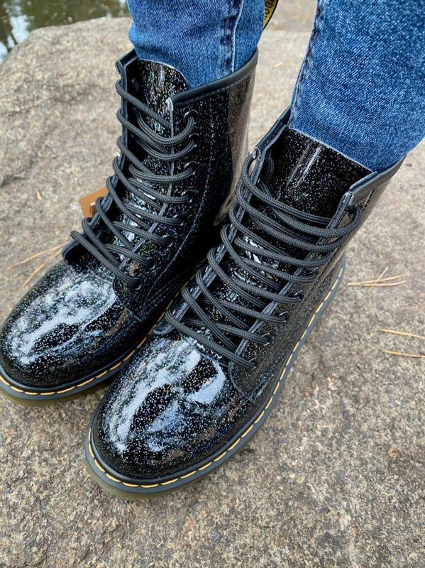 Шикарные женские ботинки dr.martens 1460 galaxy наложка - Фото 4
