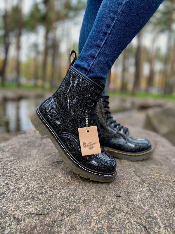 Шикарные женские ботинки dr.martens 1460 galaxy наложка - Фото 5