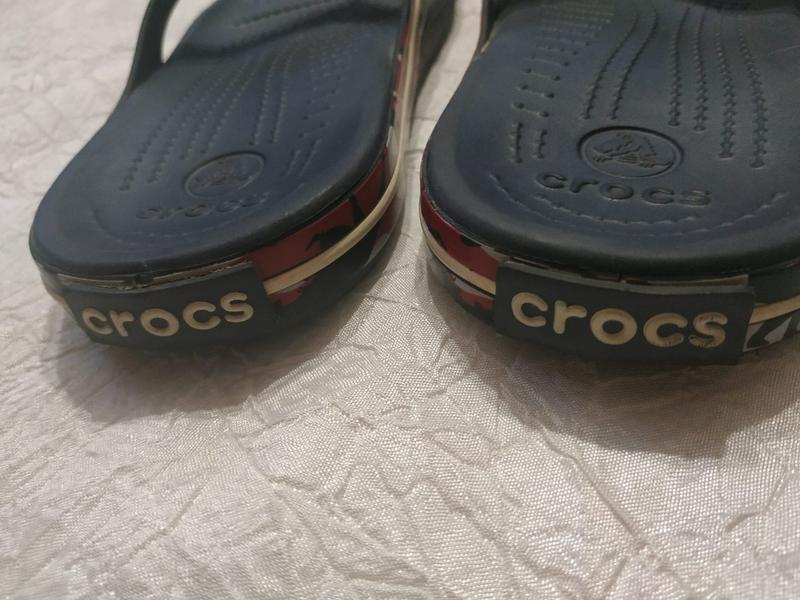 Шлепанцы вьетнамки crocs р. 33-34 (j-2) - Фото 2