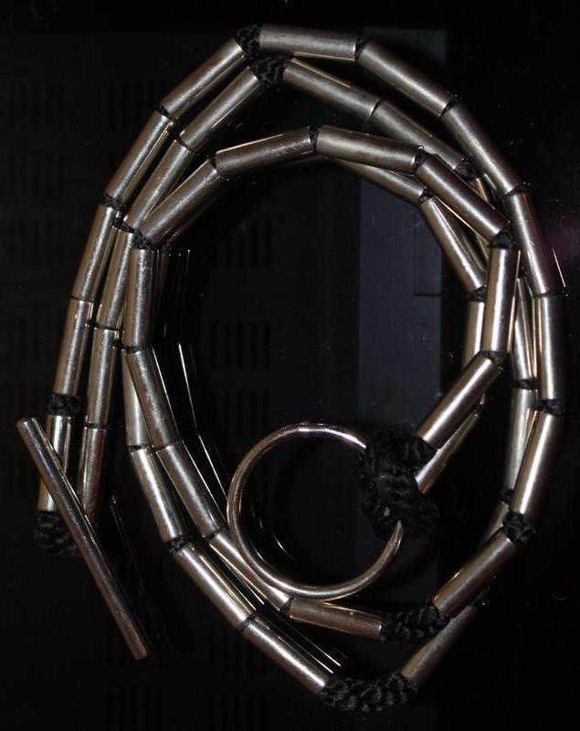 Стильный пояс верёвка металл т 80 см - Фото 3