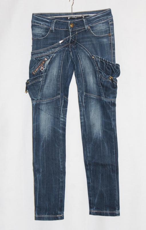 Стильные джинсы стрейч синий