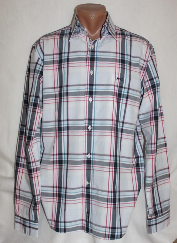 Рубашка  клетка лёгкий коттон бренд mcgregor, м