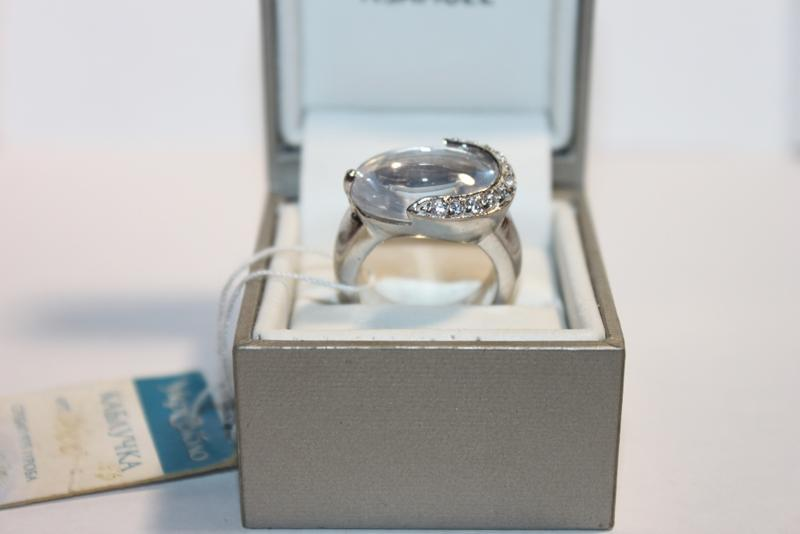 Стильное кольцо серебро 925 цирконий 16,5р