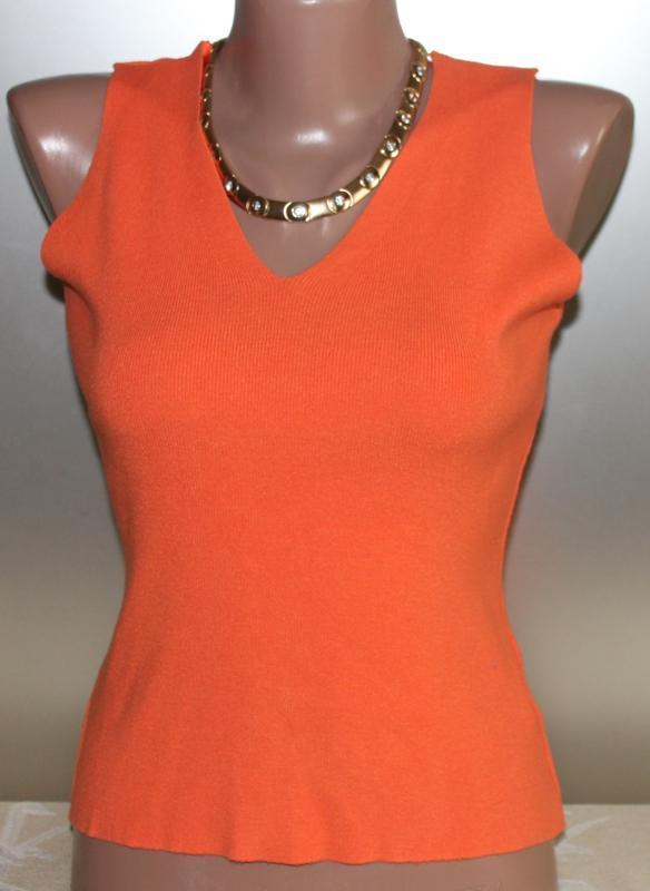 Майка жилетка оранжевый трикотаж вискоза unit испания