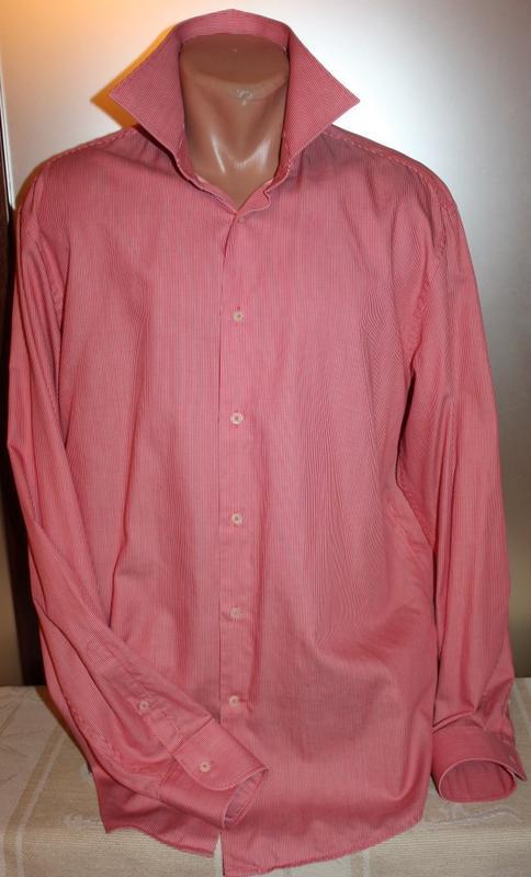 Модная рубашка красный в полоску коттон, jacques britt 50/l