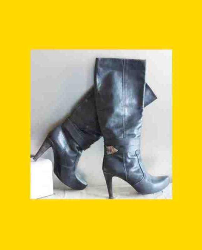 Сапоги кожаные ,скороходная удобная модель, steve madden оригинал