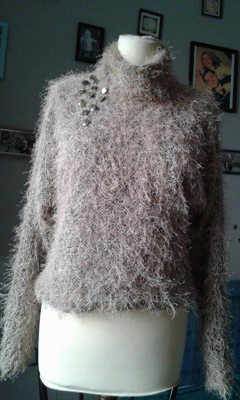 Джемпер свитер травка р 46-стильно красиво комфортно