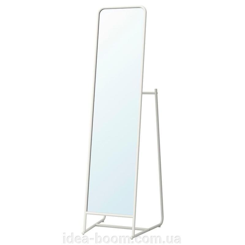 КНАППЕР Зеркало напольное, металл белый, 48x160 cm