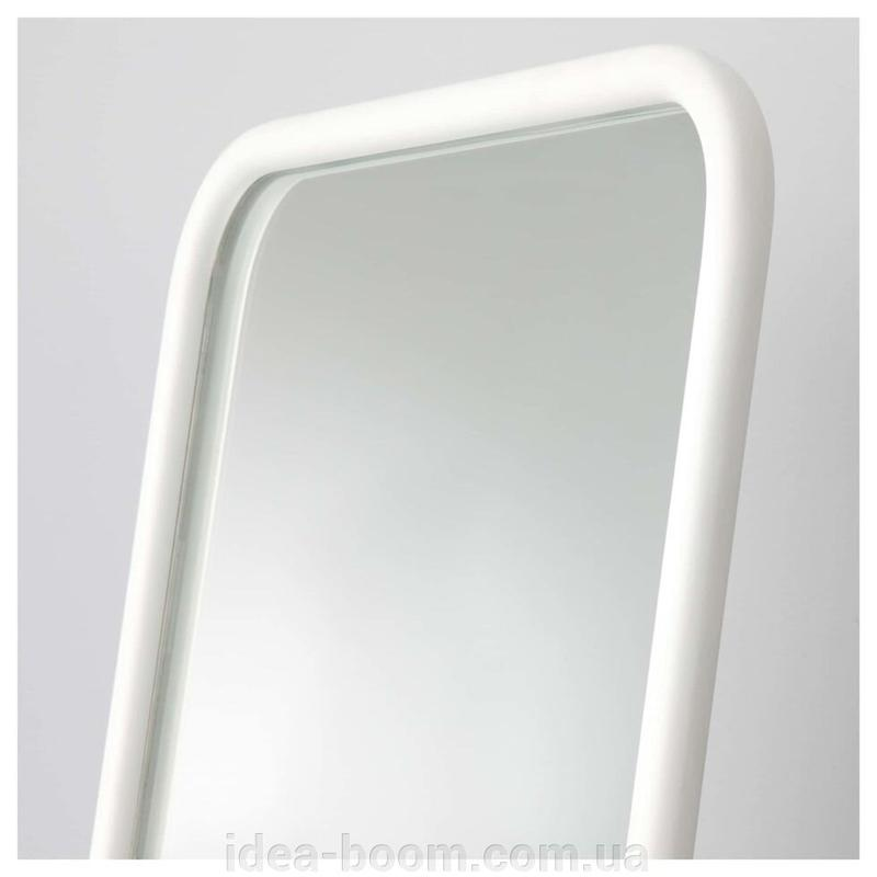 КНАППЕР Зеркало напольное, металл белый, 48x160 cm - Фото 3