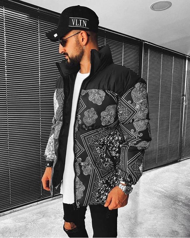 Мужская зимняя куртка черного цвета - Фото 2