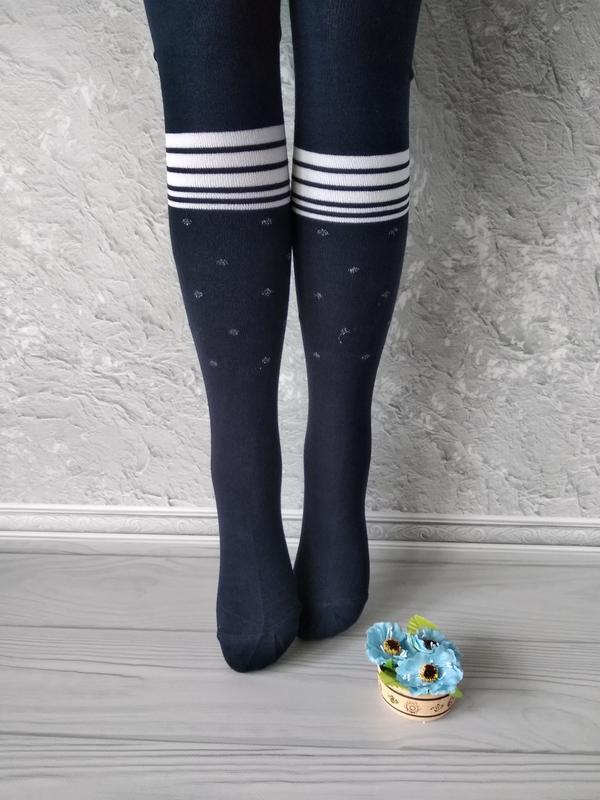 Синие колготы для девочки 4-5 лет, ароматизированные, турция