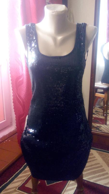 Платье в паетки new look