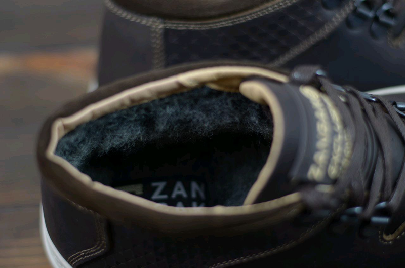 Мужские кожаные зимние ботинки Zangak, мужские ботинки - Фото 6