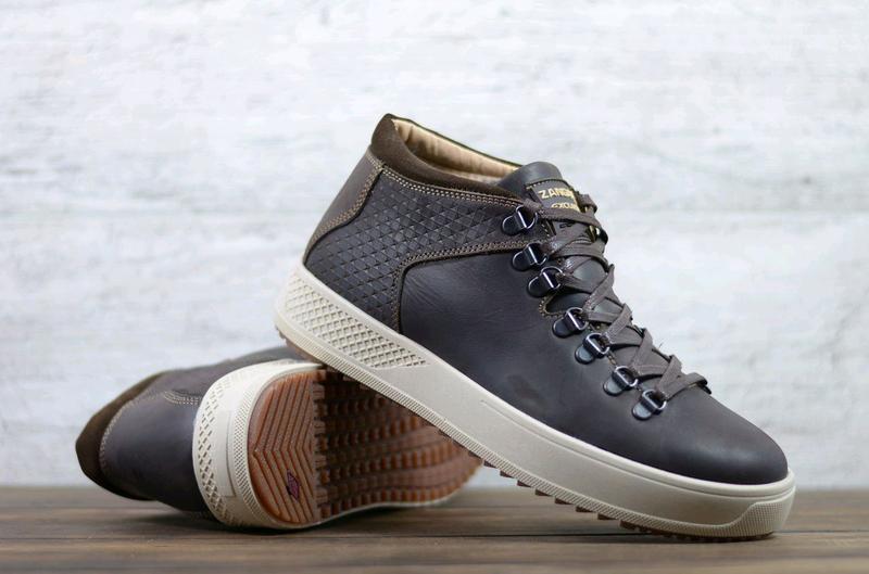 Мужские кожаные зимние ботинки Zangak, мужские ботинки - Фото 3