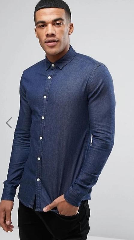 Рубашка джинсовая мужская асос сорочка джинсова чоловіча asos ...