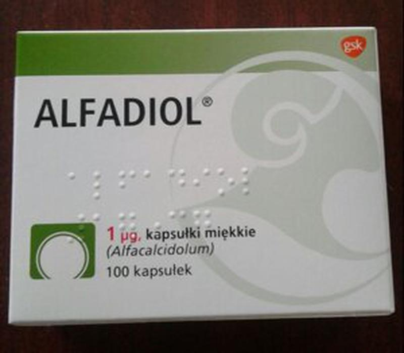 Alfadiol (alfacalcidol) 1 мкг №100