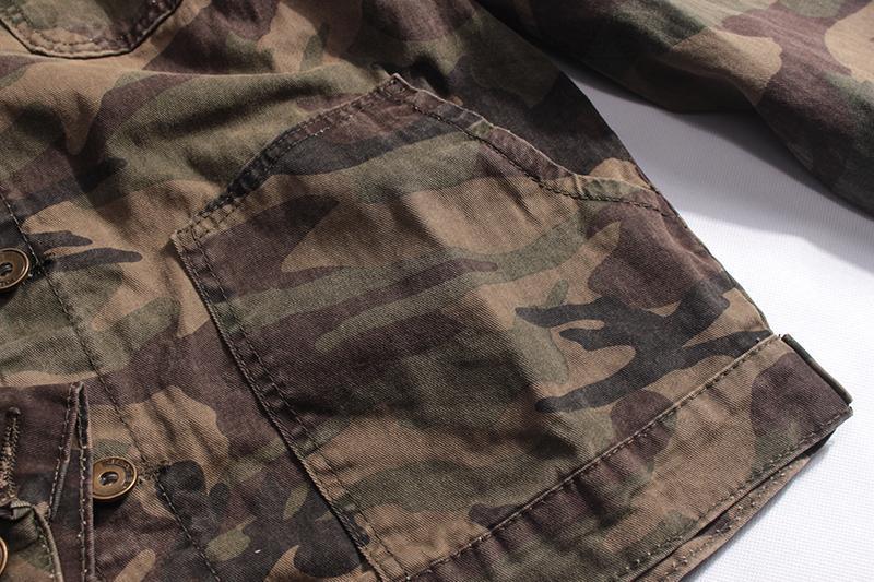 Мужская джинсовая куртка хаки - Фото 7