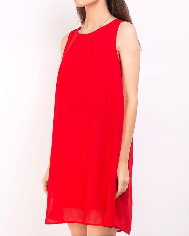Стильное брендовое платье свободного кроя,шифоновое,нарядное. - Фото 2
