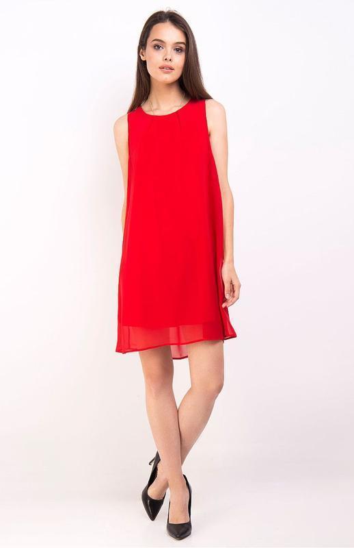 Стильное брендовое платье свободного кроя,шифоновое,нарядное.