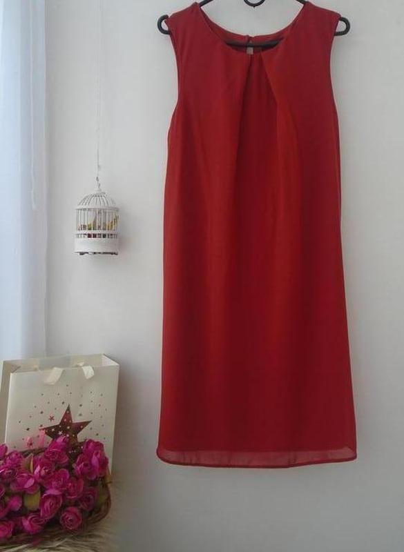 Стильное брендовое платье свободного кроя,шифоновое,нарядное. - Фото 4