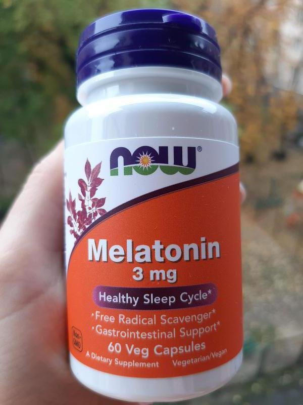 Мелатонин Now Foods, крепкий сон, 3 мг, 60 шт США Melatonin
