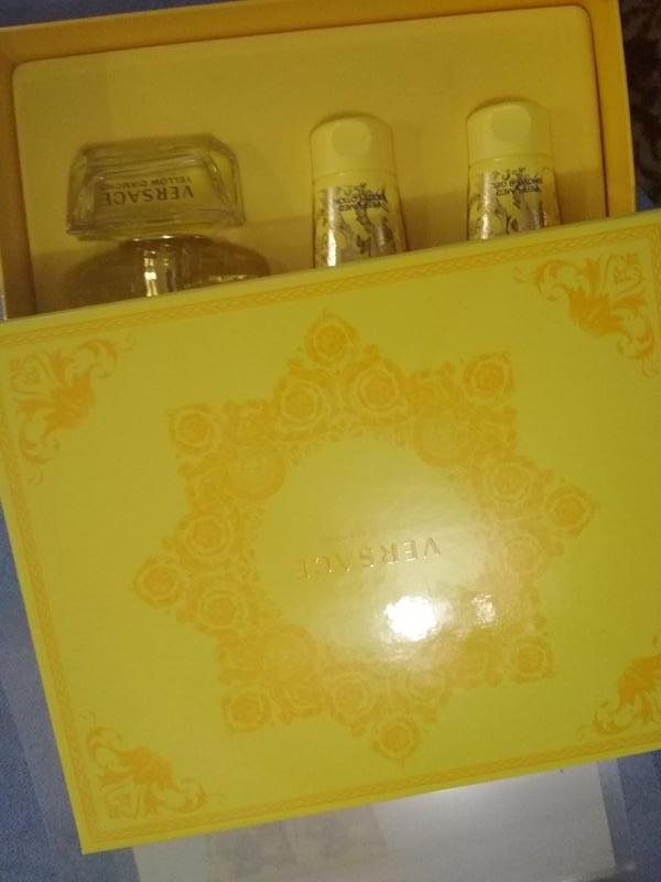 Оригинал 100% набор versace yellow diamond 50+50+50ml