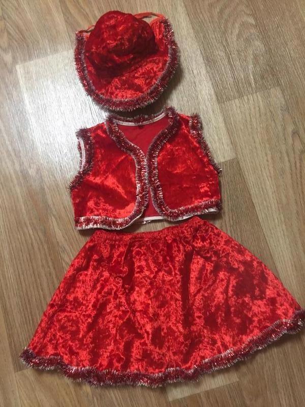 Новогодний детский костюм красной шапочки