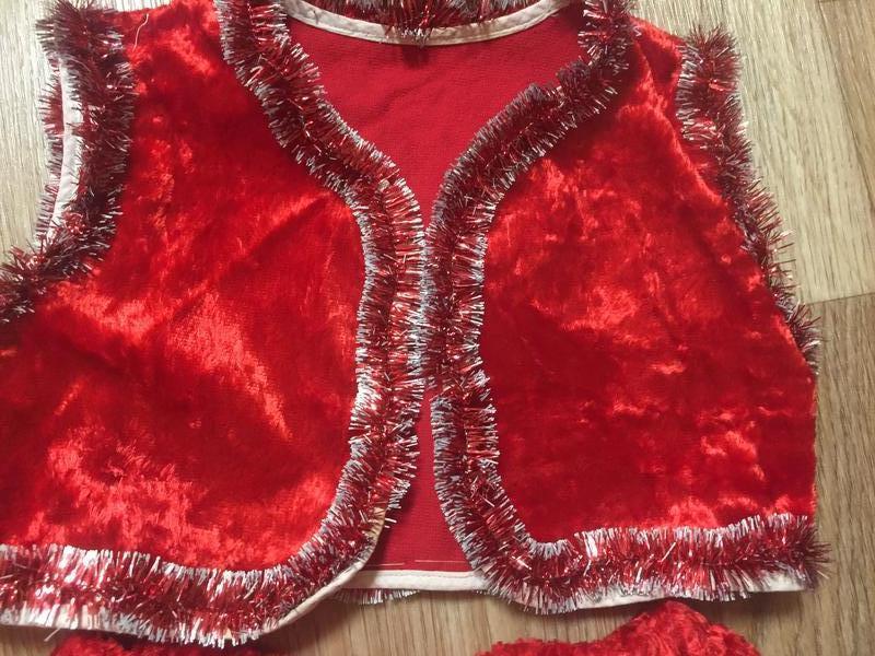 Новогодний детский костюм красной шапочки - Фото 2