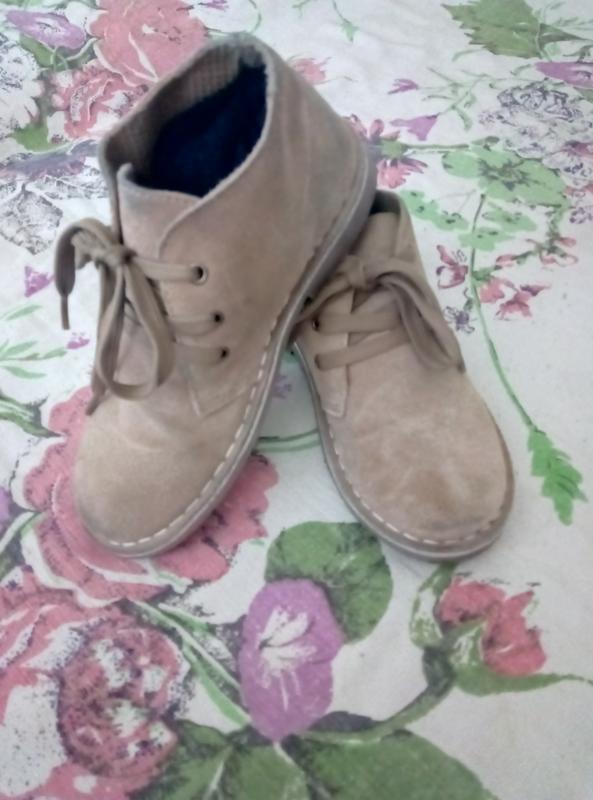 Демисезонные ботинки,туфли нат.замш