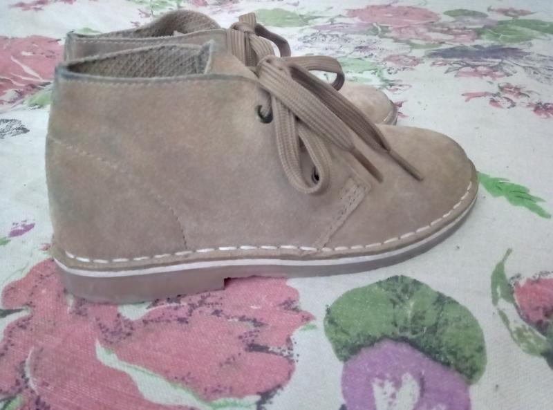 Демисезонные ботинки,туфли нат.замш - Фото 4