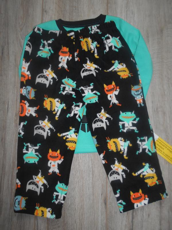 Пижама хлопок флис carters - Фото 3