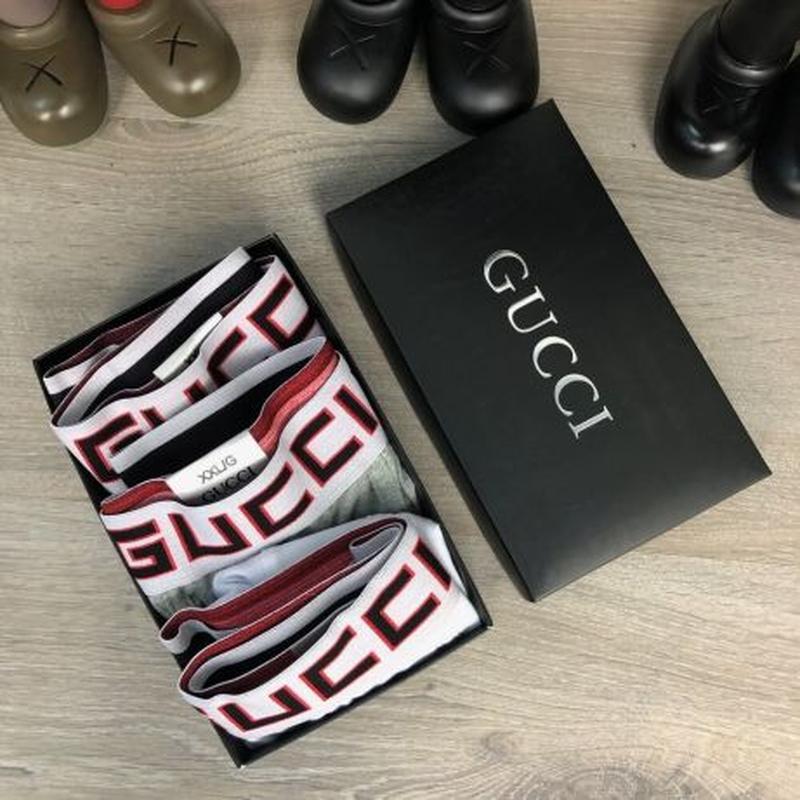 Акция! Набор Трусов Gucci Pack 3 Black/Grey/White