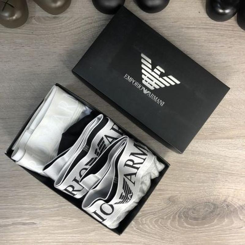 Акция! Набор Трусов Emporio Armani Pack 3 Silver Black/Grey/White