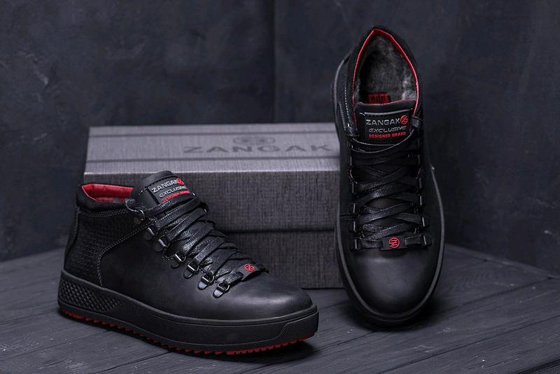 Мужские кожаные зимние ботинки zangak, зимние ботинки, ботинки - Фото 4