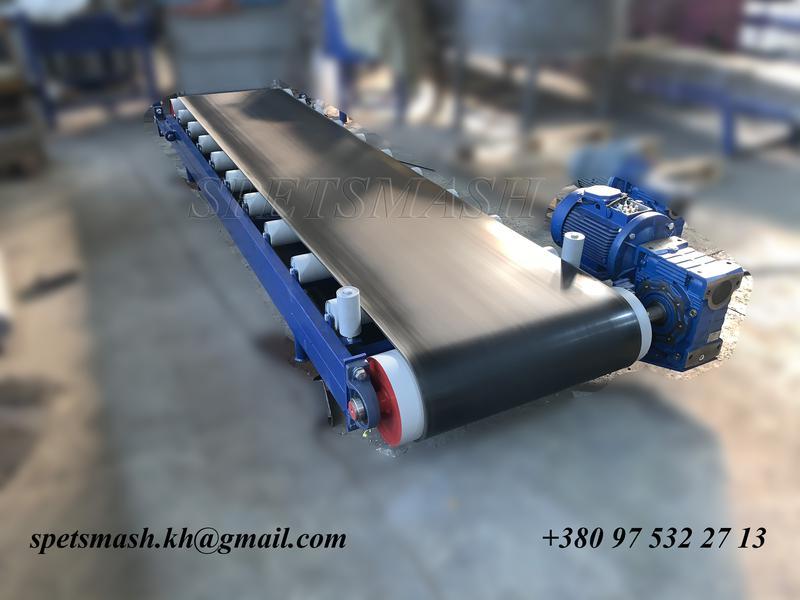 Конвейер ленточный для штучных грузов конвейер на роликоопорах
