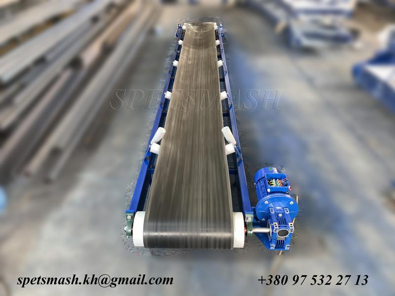 Транспортер ленточный сыпучих грузов редукторы для навозного транспортера