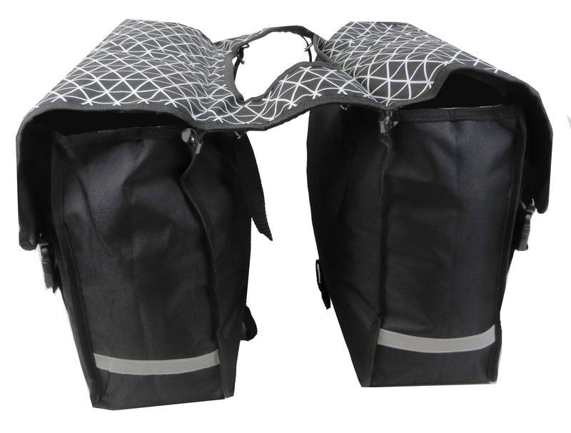 Велоштаны, велосумка текстильная 34 L Сrivit S061798 черная
