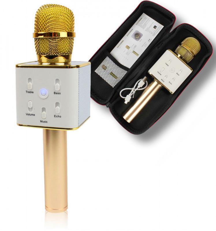 """Беспроводной портативный микрофон для караоке с Чехлом Q7 MS """"sou"""