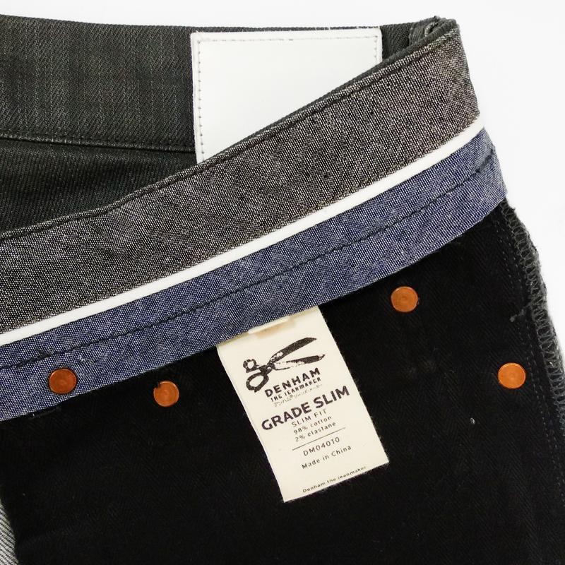 Вощеные джинсы denham grade slim vgt - Фото 7