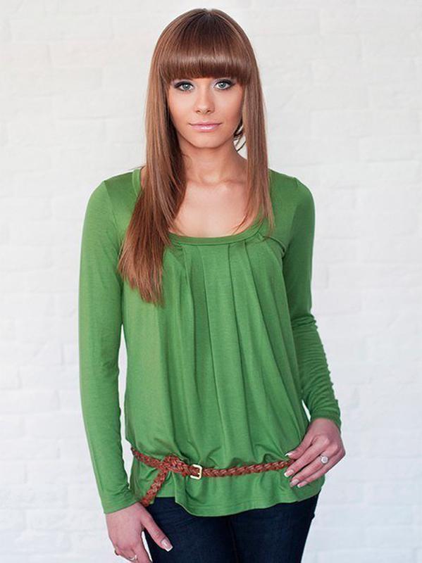 Женская футболка трикотажная с длинным рукавом