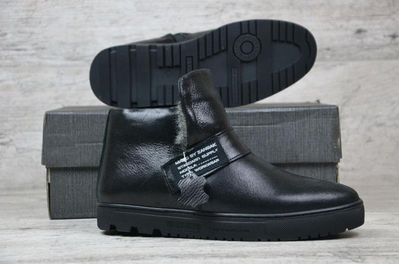 Мужские кожаные зимние ботинки zangak, мужские ботинки, ботинки - Фото 3