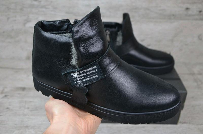 Мужские кожаные зимние ботинки zangak, мужские ботинки, ботинки - Фото 5