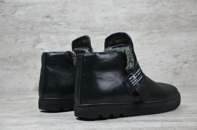 Мужские кожаные зимние ботинки zangak, мужские ботинки, ботинки - Фото 4
