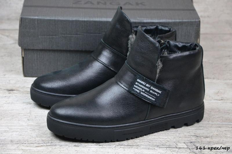 Мужские кожаные зимние ботинки zangak, мужские ботинки, ботинки - Фото 2